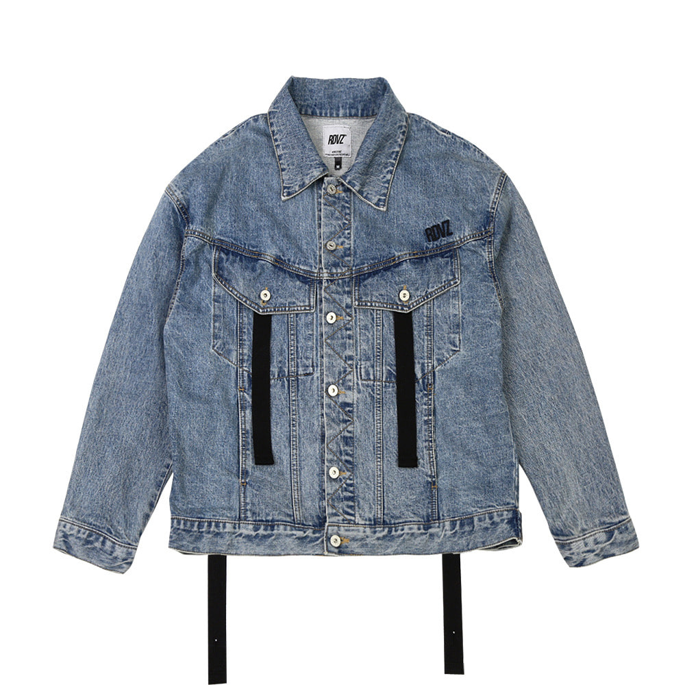 랑데부 RDVZ DENIM TRUCKER JACKET LIGHTBLUE