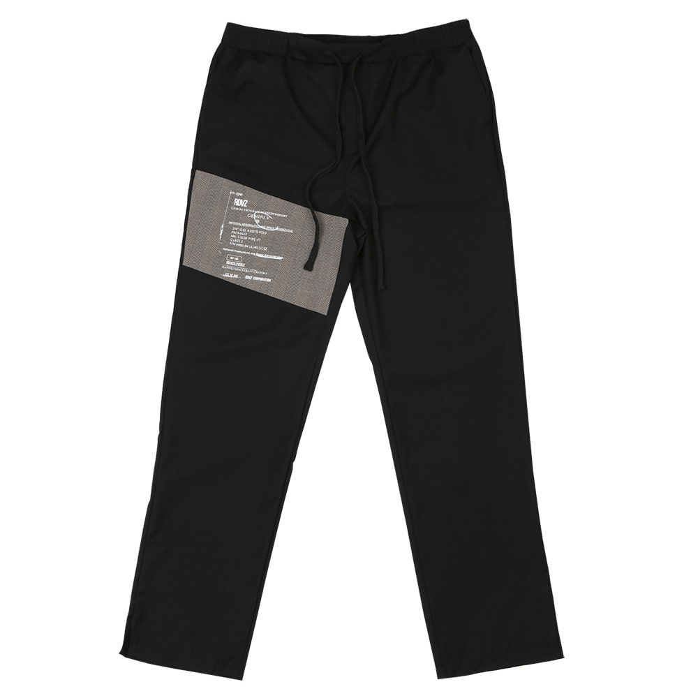 랑데부 LABEL BLOCK SLACKS BLACK