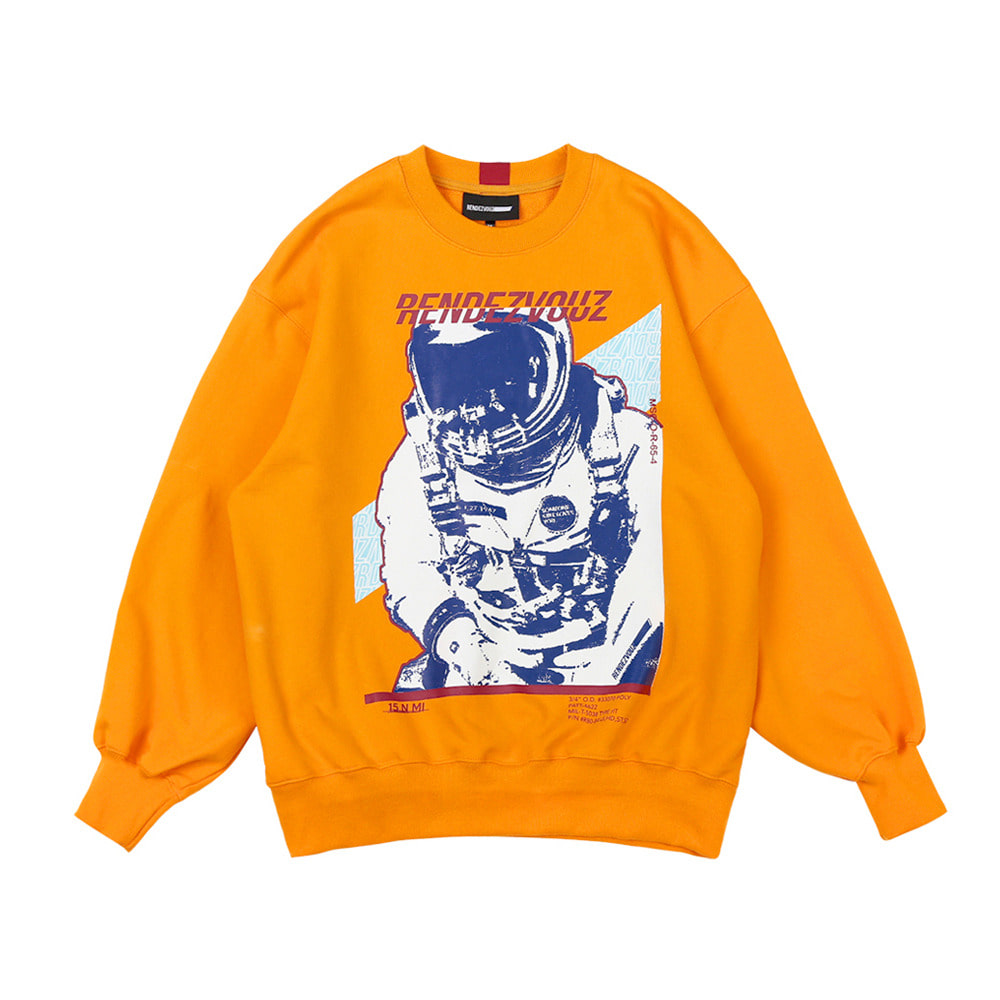 랑데부 SPACE MAN SWEAT TOP ORANGE
