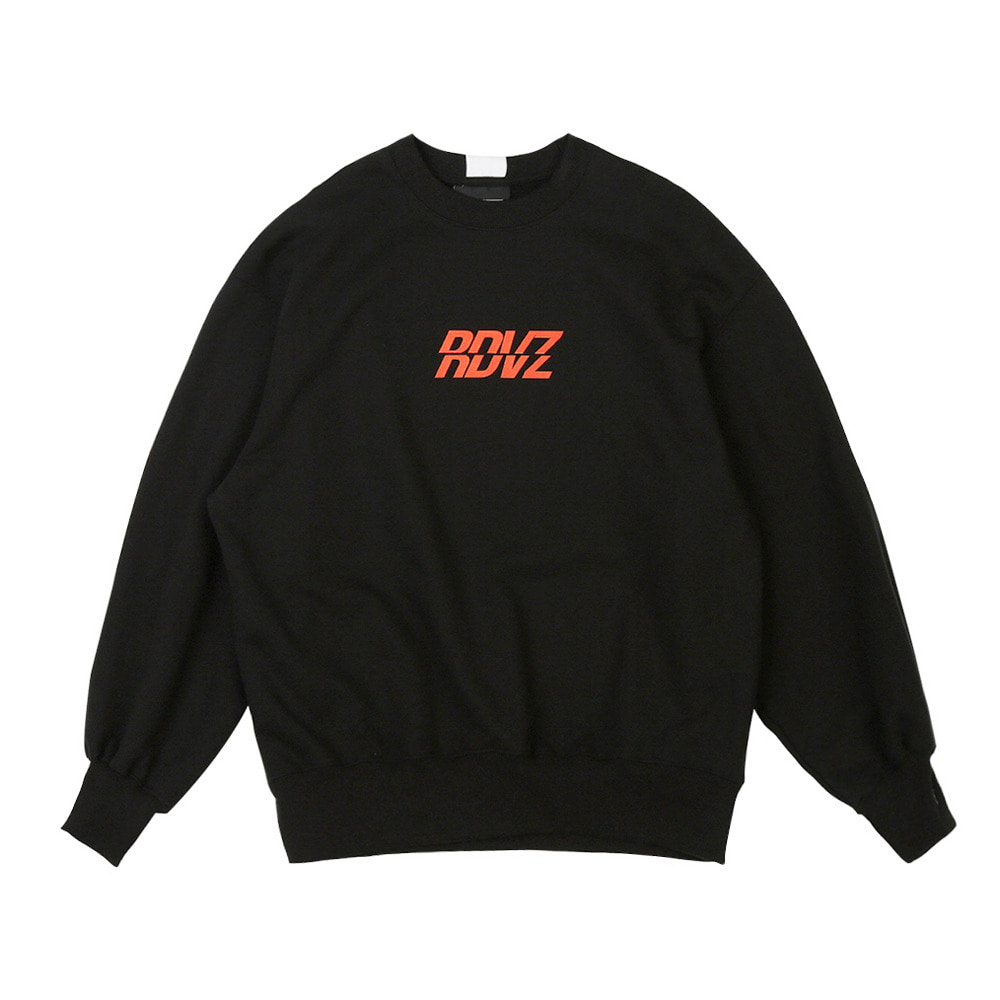 랑데부 RDVZ SWEAT TOP BLACK