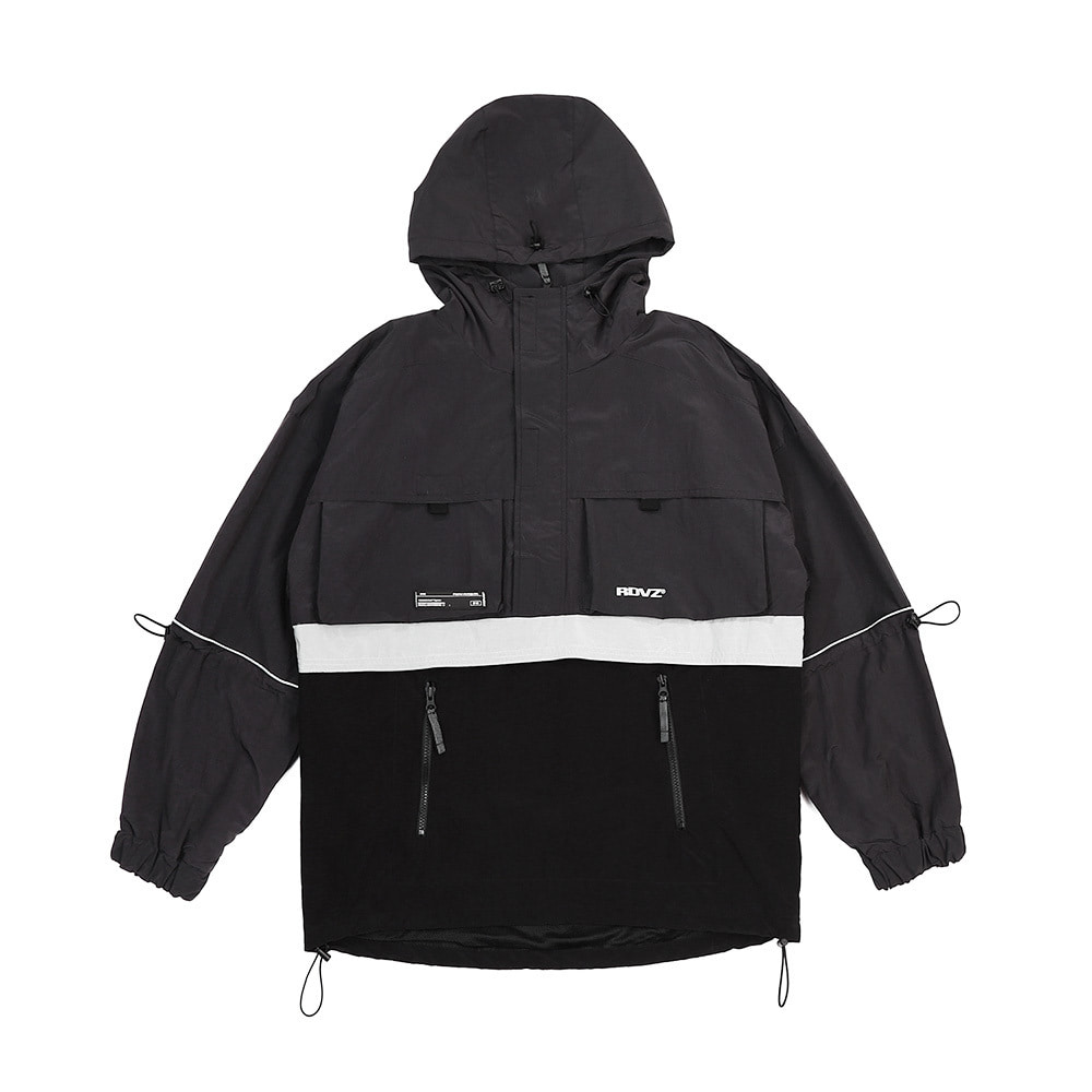 랑데부 UTILITY POCKET ANORAK CHARCOAL