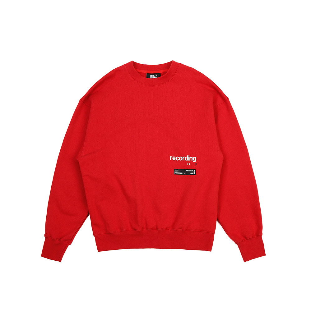 랑데부 RECORDING SWEAT TOP RED