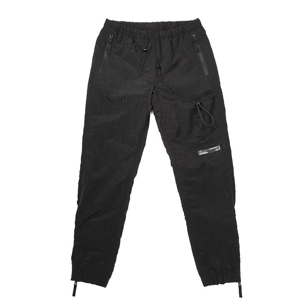 랑데부 STRING POCKET WARM UP PANTS BLACK