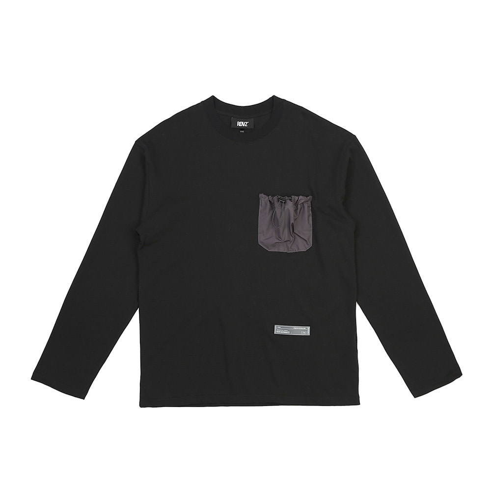 랑데부 STRING POCKET LONG SLEEVE BLACK