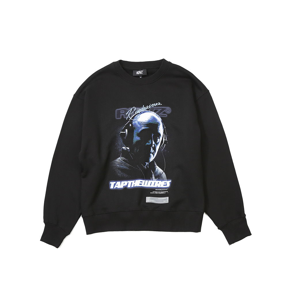 랑데부 TAPTHEWIRES SWEAT TOP BLACK