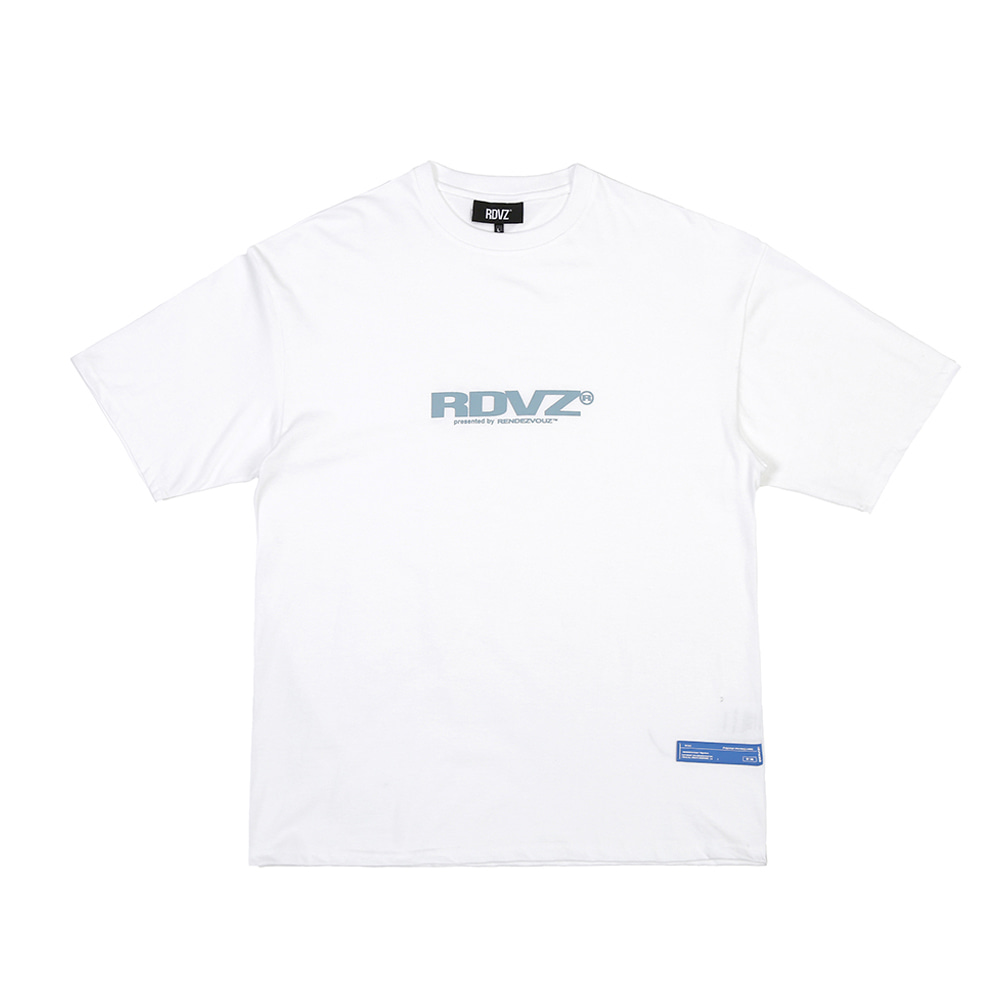 랑데부 BIG LOGO T-SHIRTS WHITE