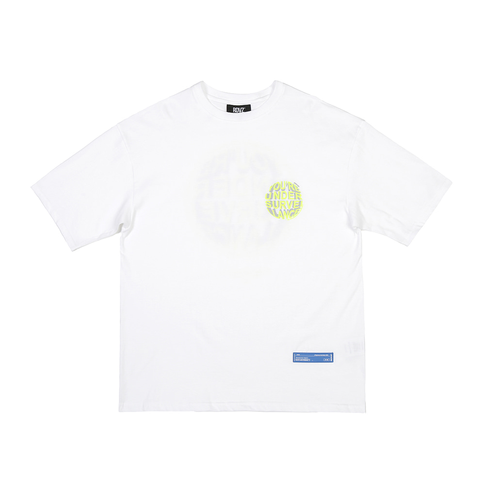 랑데부 CIRCLE LOGO T-SHIRTS WHITE