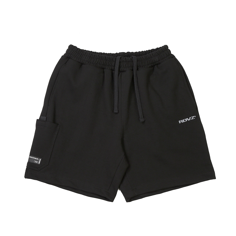 랑데부 SIDE POCKET SWEAT SHORT BLACK