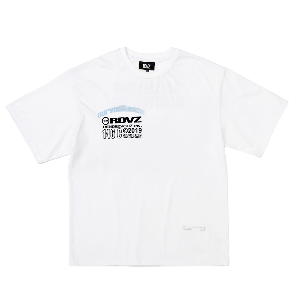 랑데부 TM LOGO FLOCK T-SHIRTS WHITE