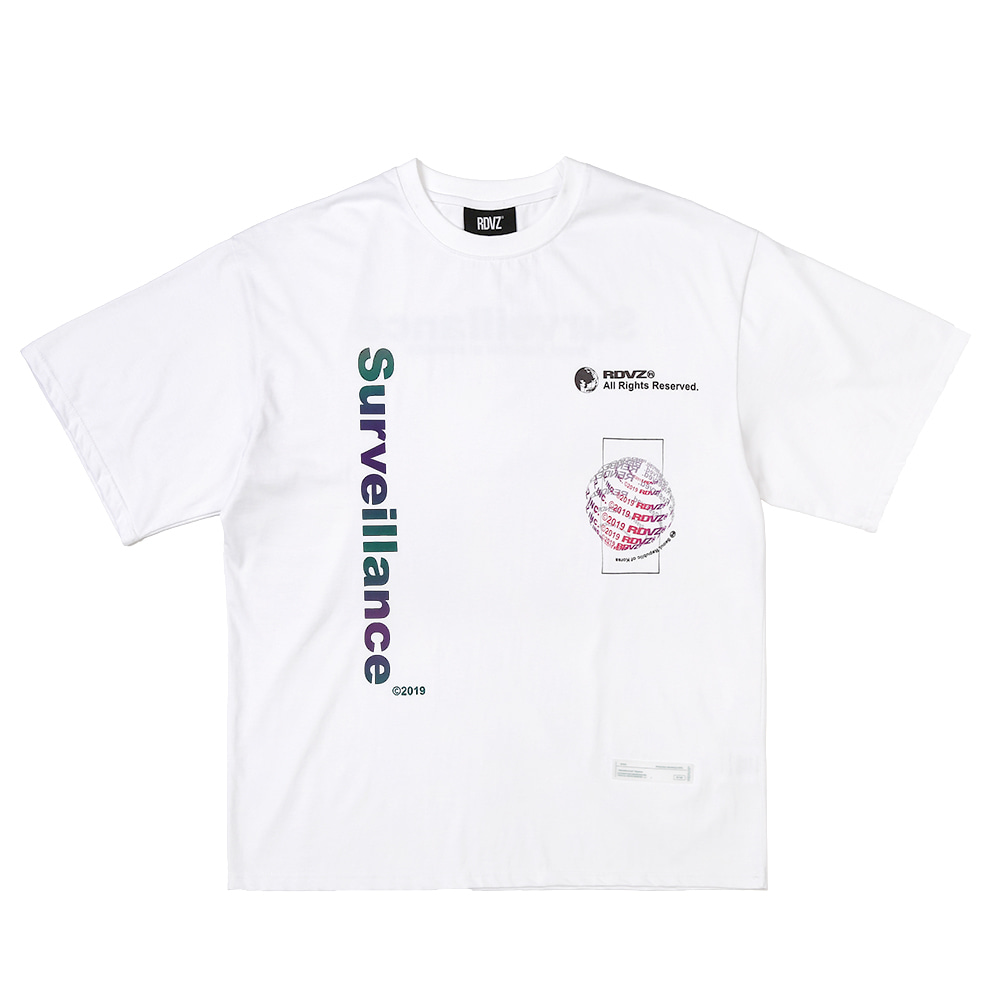 랑데부 GLOBAL AURORA T-SHIRTS WHITE