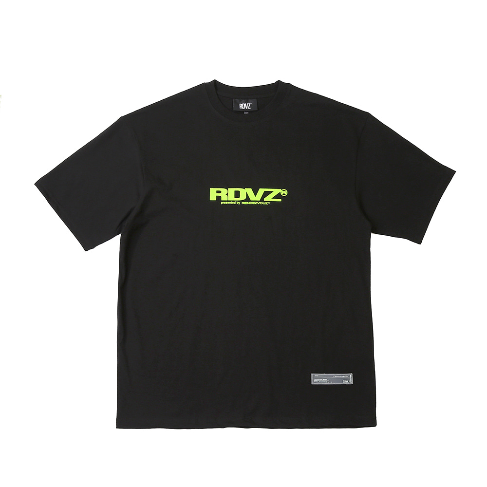 랑데부 BIG LOGO T-SHIRTS BLACK