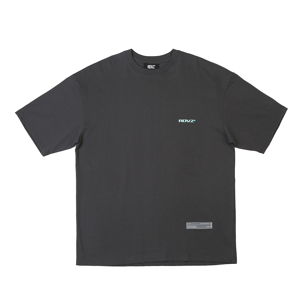 랑데부 SURVEILLANCE T-SHIRTS CHARCOAL