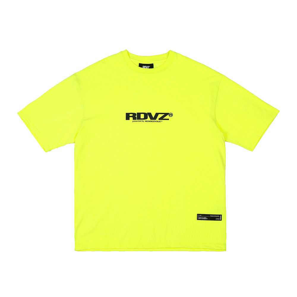 랑데부 BIG LOGO T-SHIRTS NEON