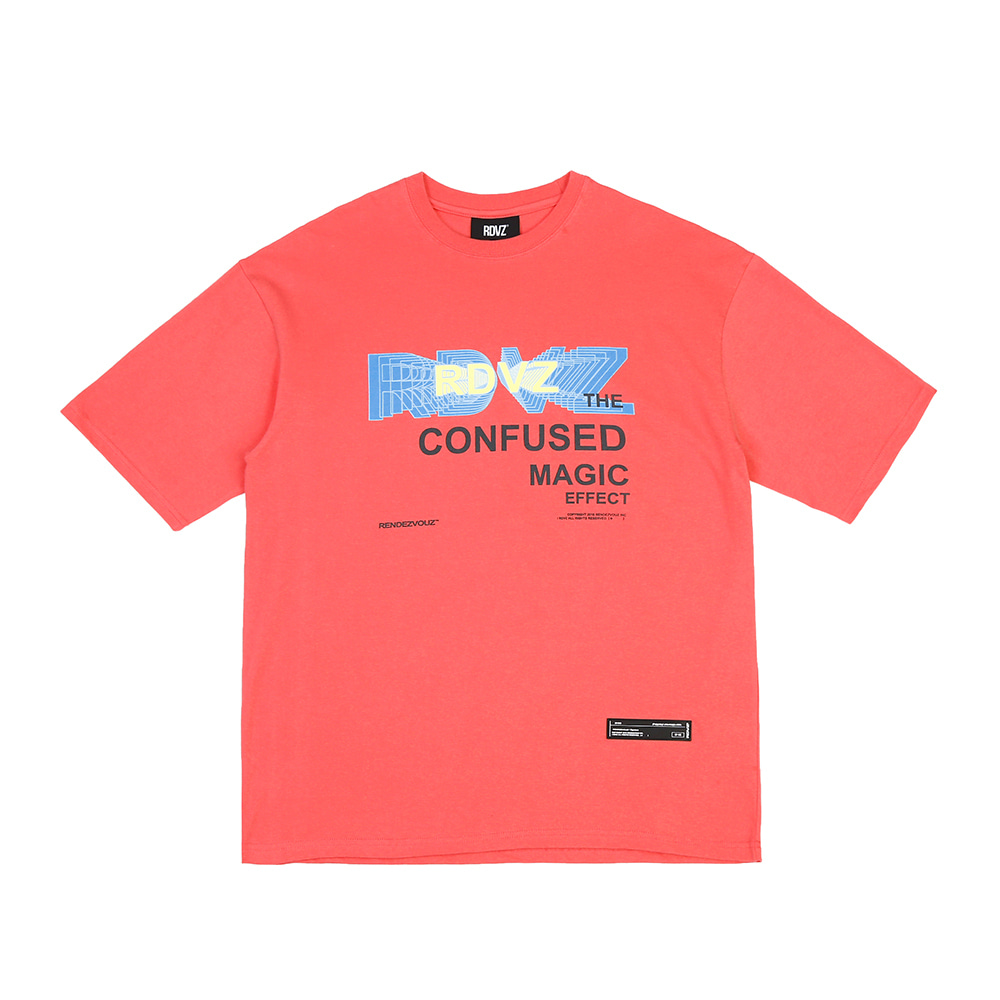 랑데부 THE CONFUSED T-SHIRTS CORAL