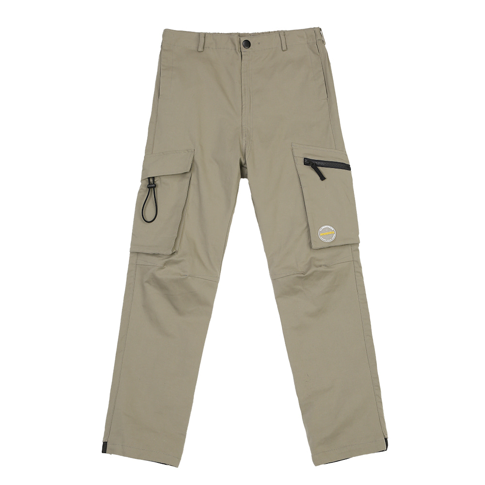 랑데부 MULTI POCKET CARGO PANTS LIGHTKHAKI
