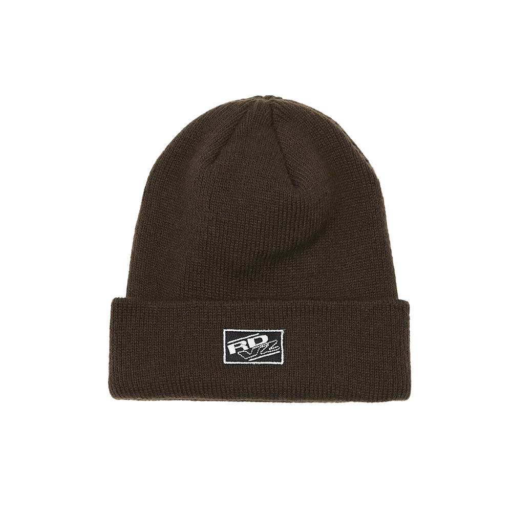 랑데부 RECTANGLE LABEL BEANIE BROWN