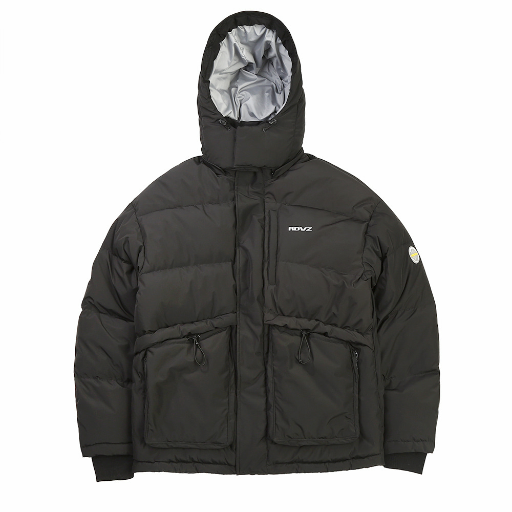 랑데부 PSYCHEDELIC DOWN JACKET BLACK