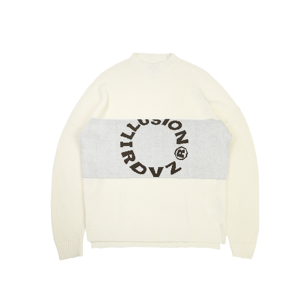 랑데부 ILLUSION KNIT IVORY