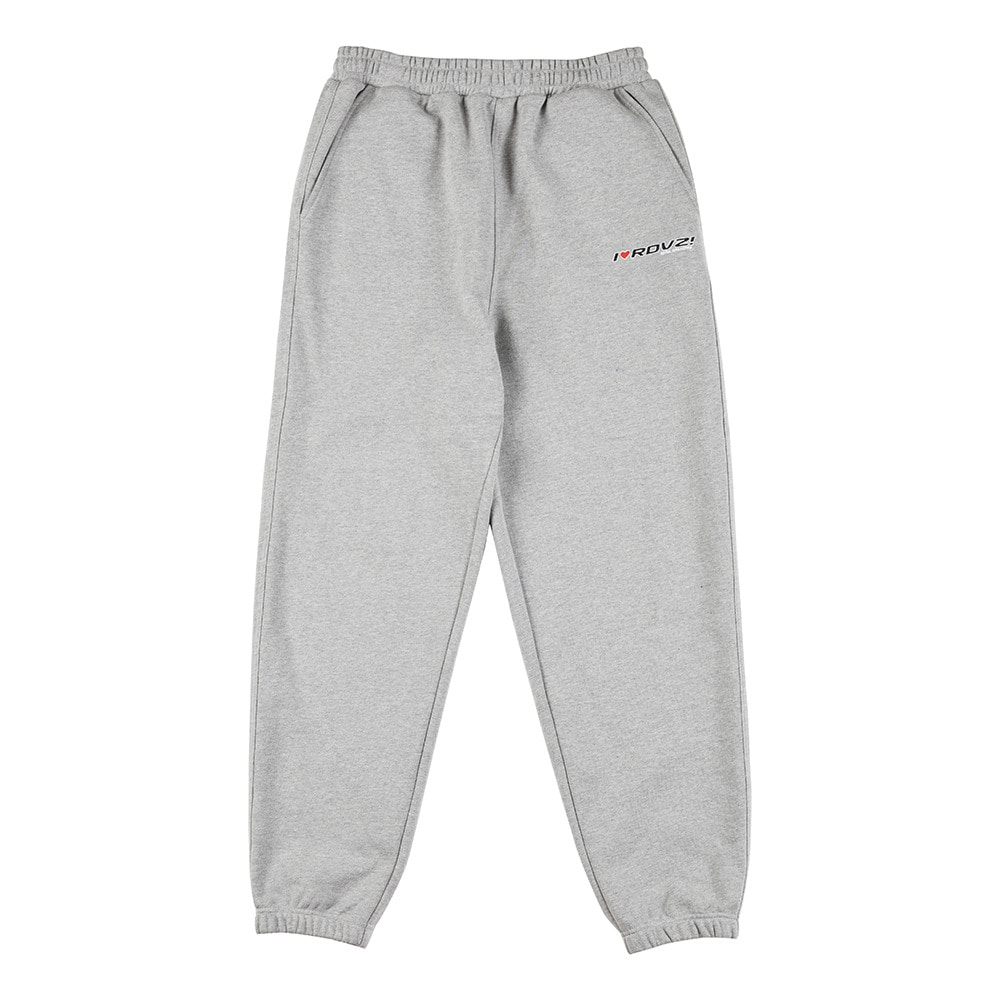 랑데부 I LOVE RDVZ SWEAT PANTS GREY