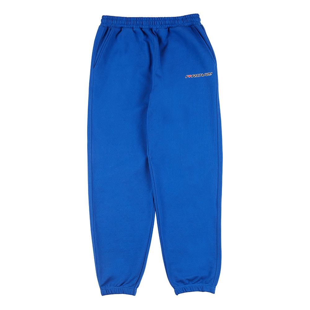 랑데부 I LOVE RDVZ SWEAT PANTS BLUE