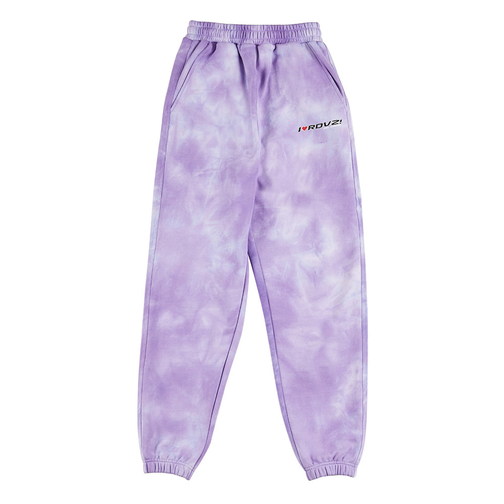 랑데부 I LOVE RDVZ SWEAT PANTS TIE DYE