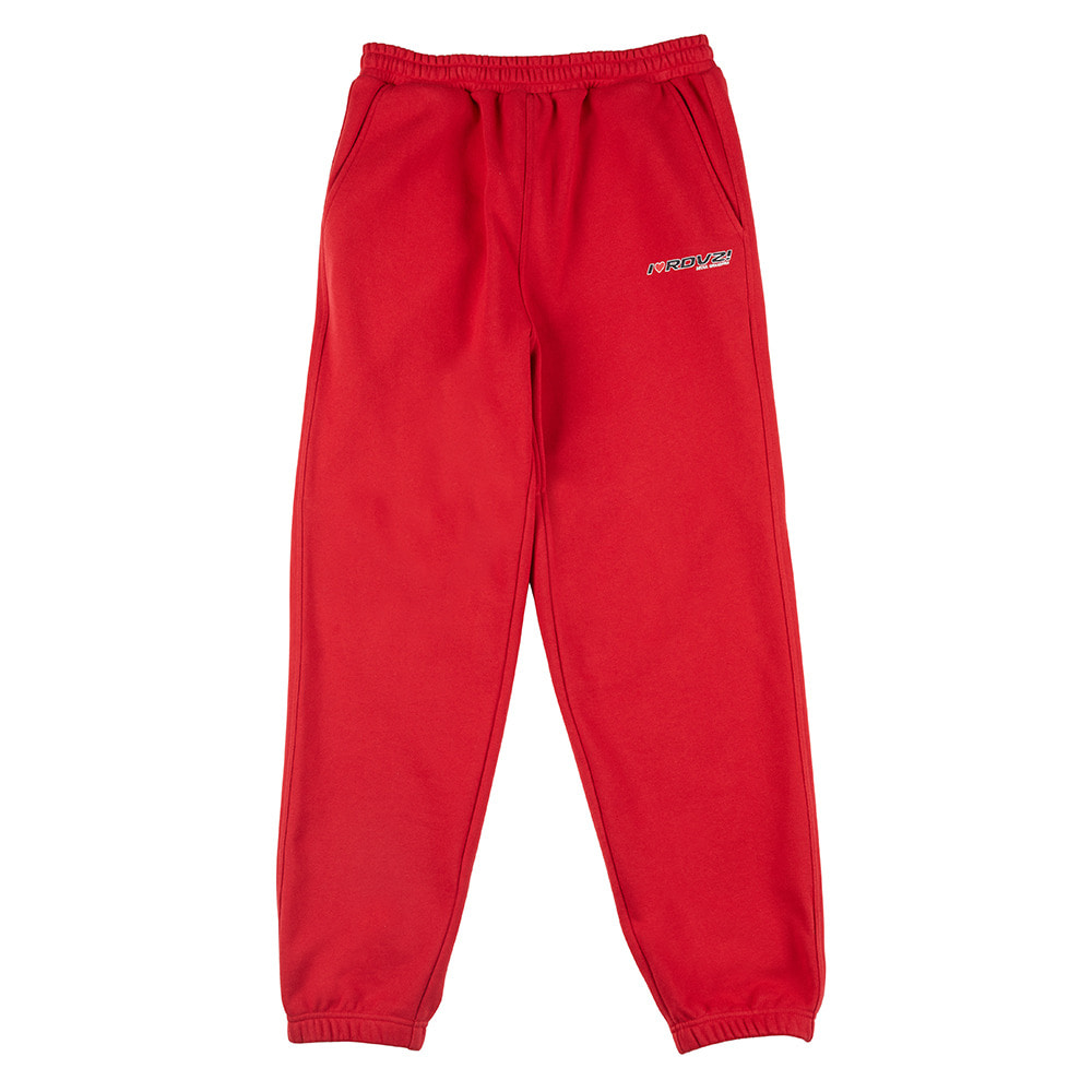 랑데부 I LOVE RDVZ SWEAT PANTS RED