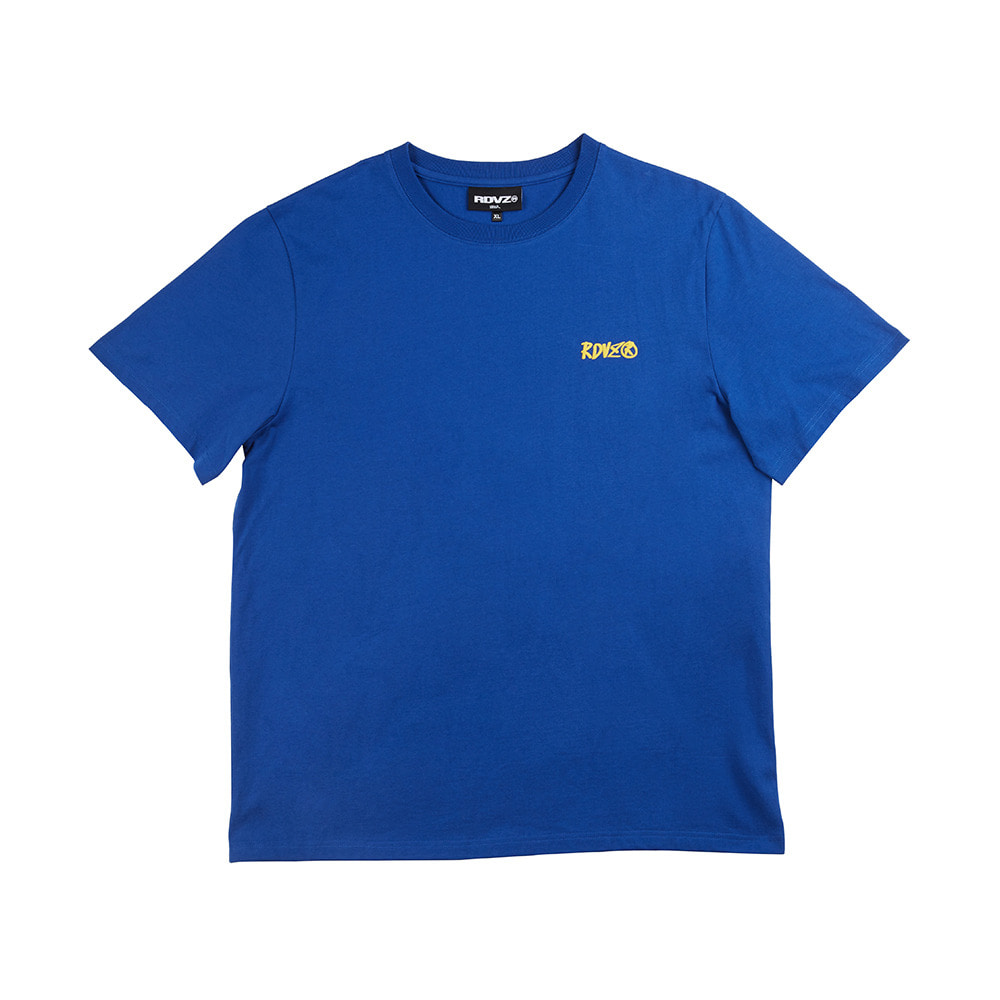 랑데부 FOAMING LOGO T-SHIRT BLUE