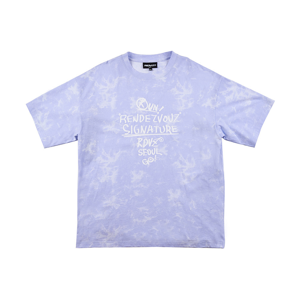 랑데부 GRAFFITI T-SHIRT PURPLE