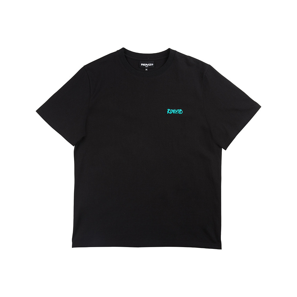 랑데부 FOAMING LOGO T-SHIRT BLACK