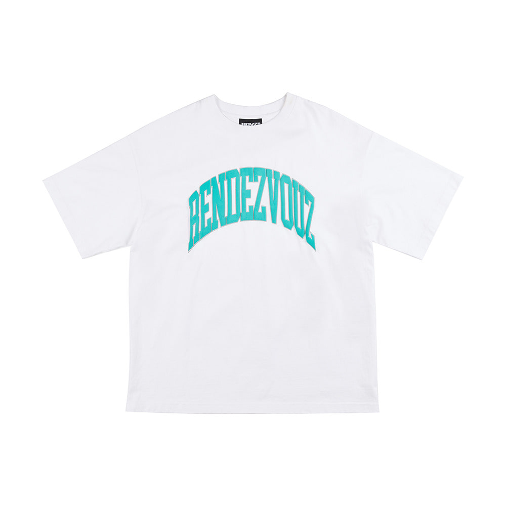 랑데부 ARCH FOAMING PRINT T-SHIRT WHITE
