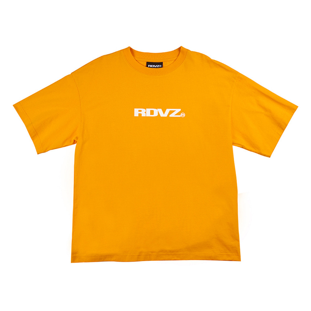 랑데부 GLITTER LOGO T-SHIRT ORANGE