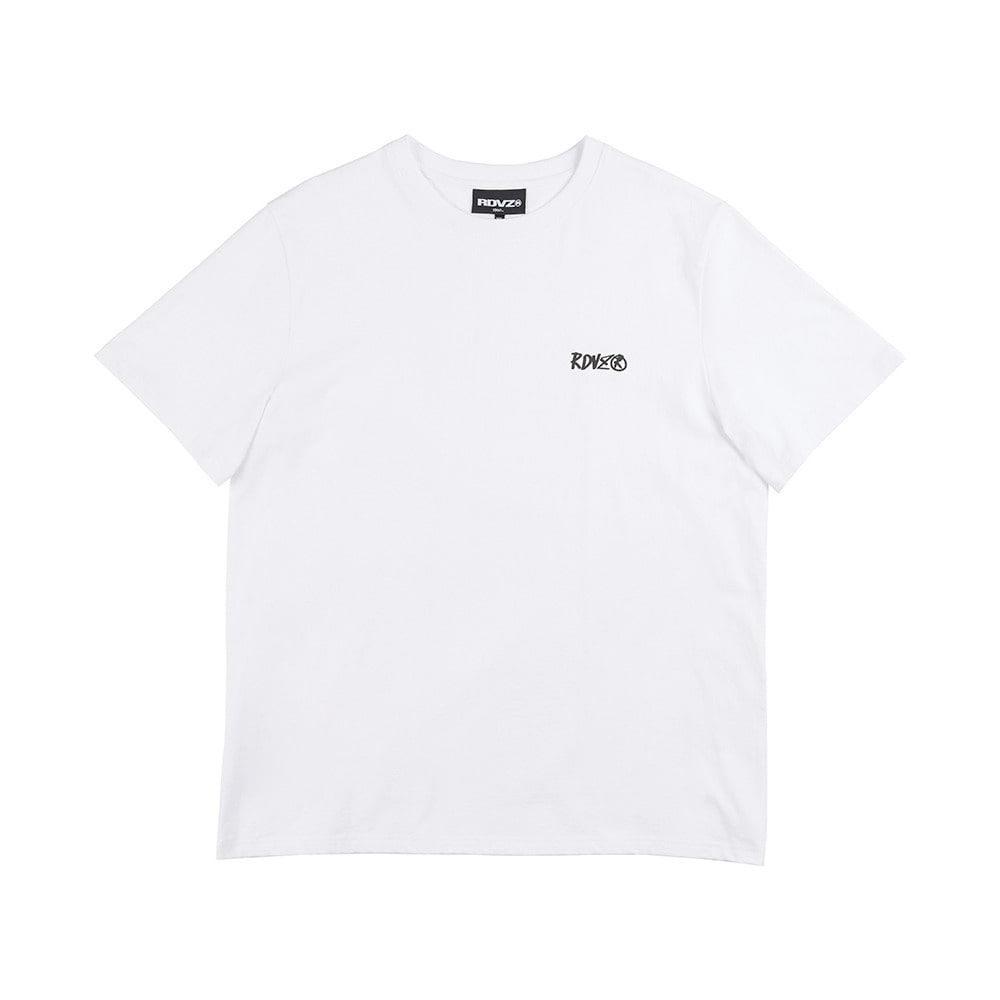 랑데부 FOAMING LOGO T-SHIRT WHITE