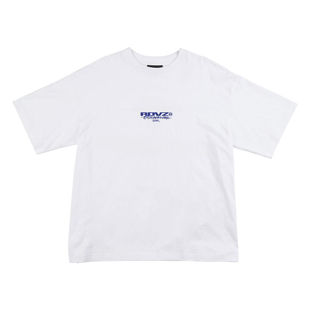 랑데부 SIGNATURE LOGO T-SHIRT WHITE