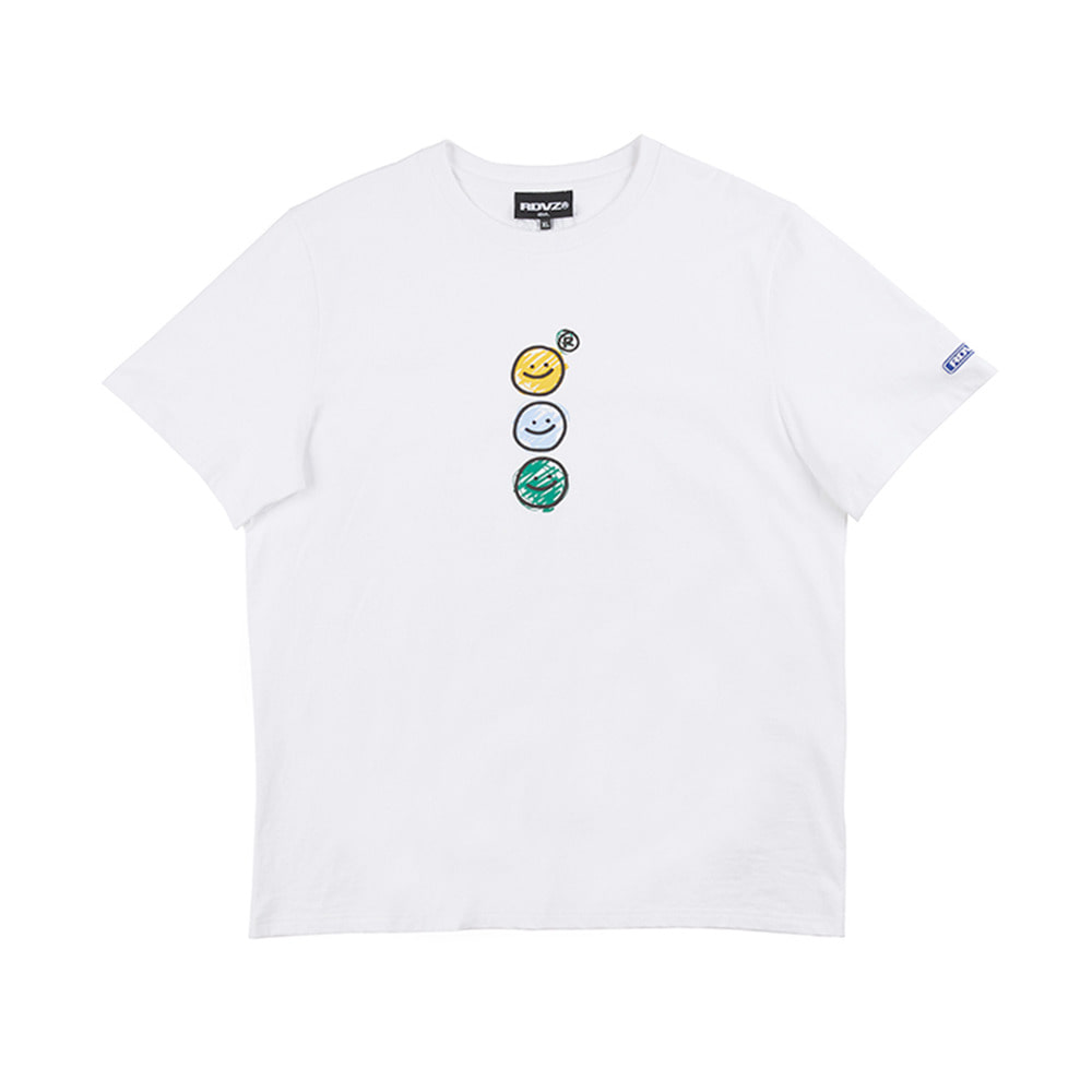 랑데부 TRIPLE SMILING T-SHIRT WHITE