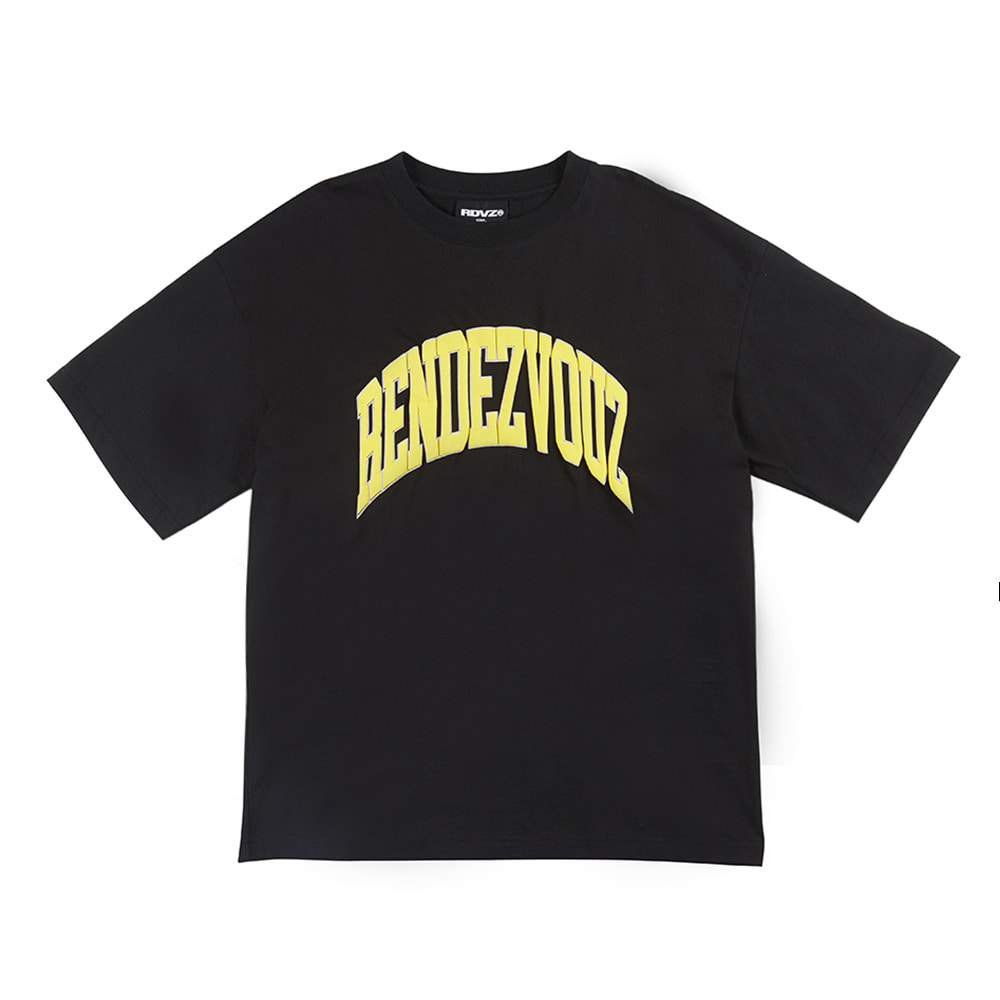 랑데부 ARCH FOAMING PRINT T-SHIRT BLACK