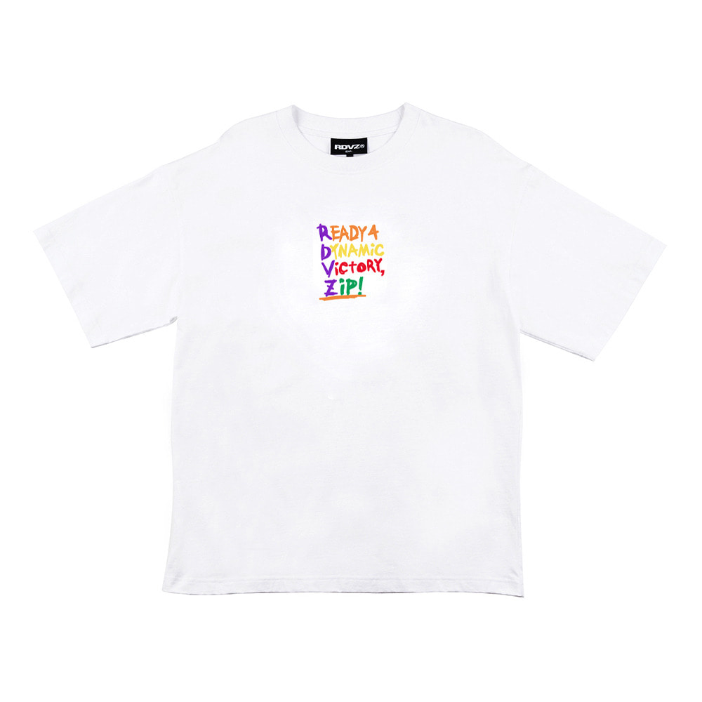 랑데부 RDVZ WORDING T-SHIRT WHITE