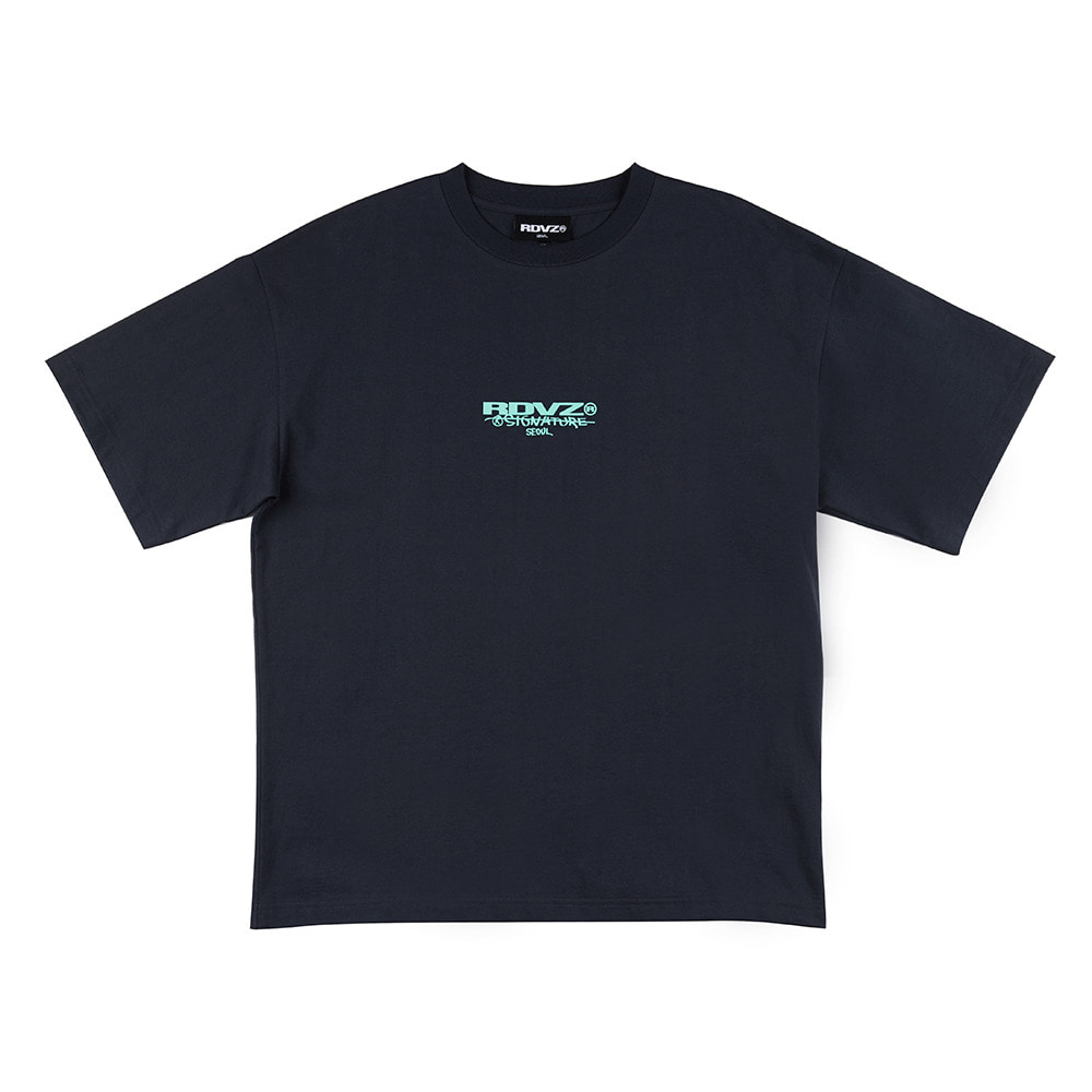 랑데부 SIGNATURE LOGO T-SHIRT CHARCOAL