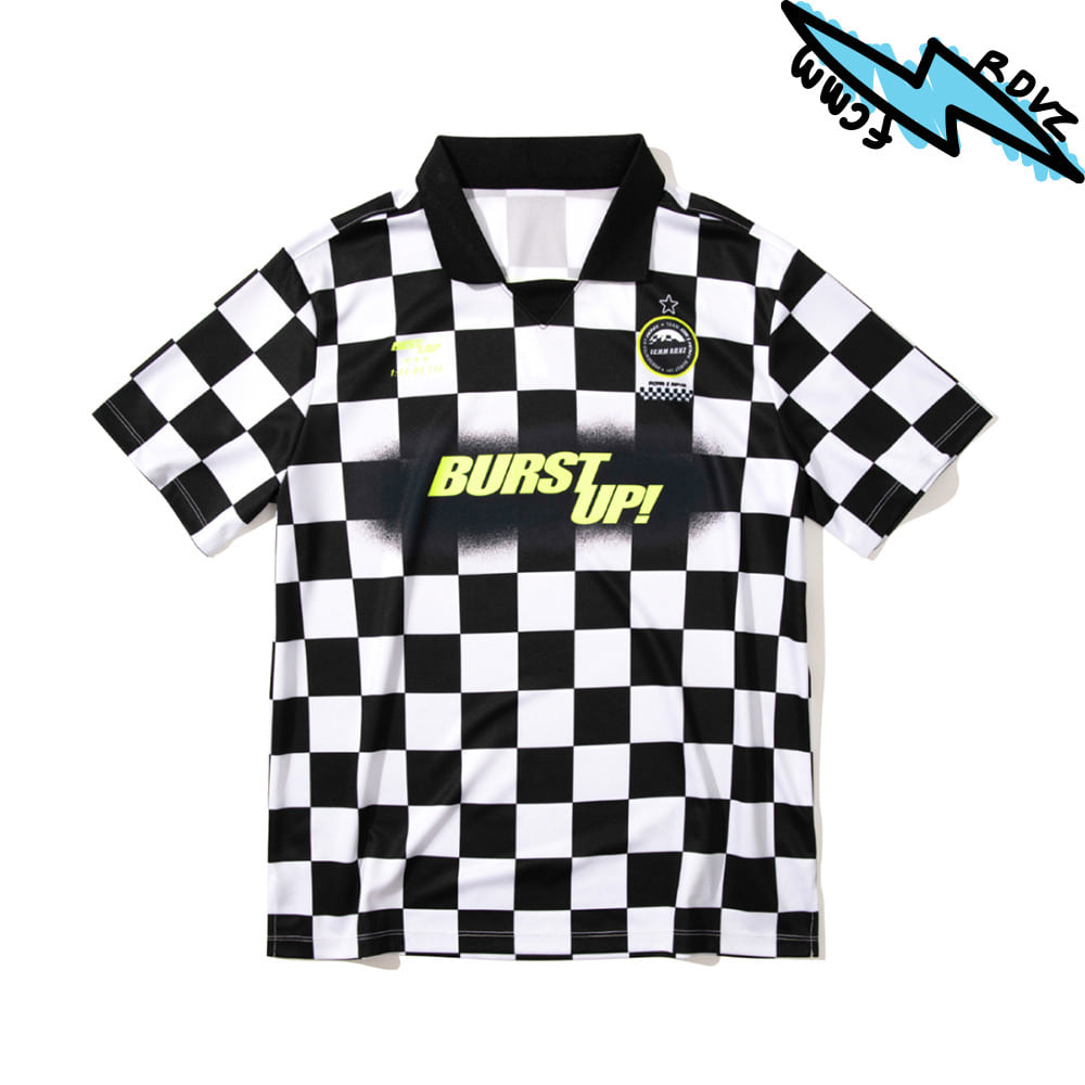랑데부 CHECKERBOARD JERSEY BLACK