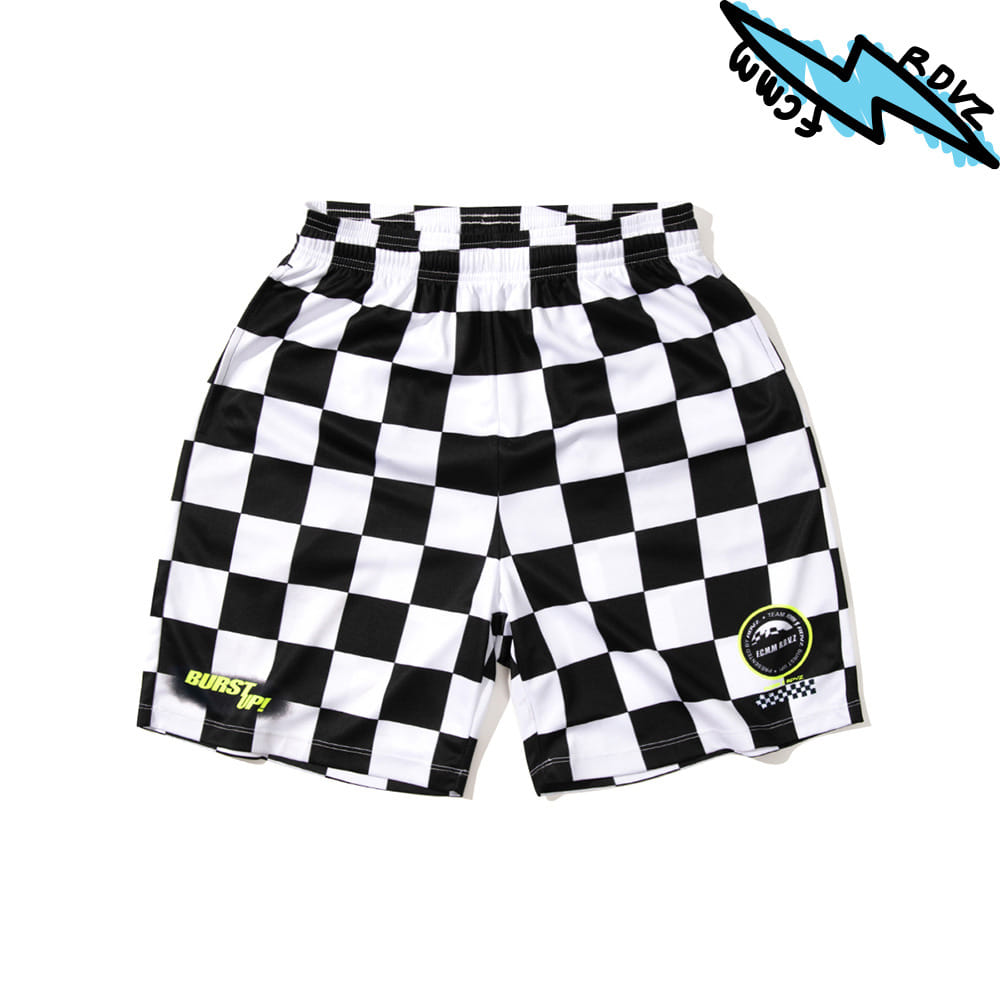 랑데부 CHECKERBOARD SHORTS BLACK