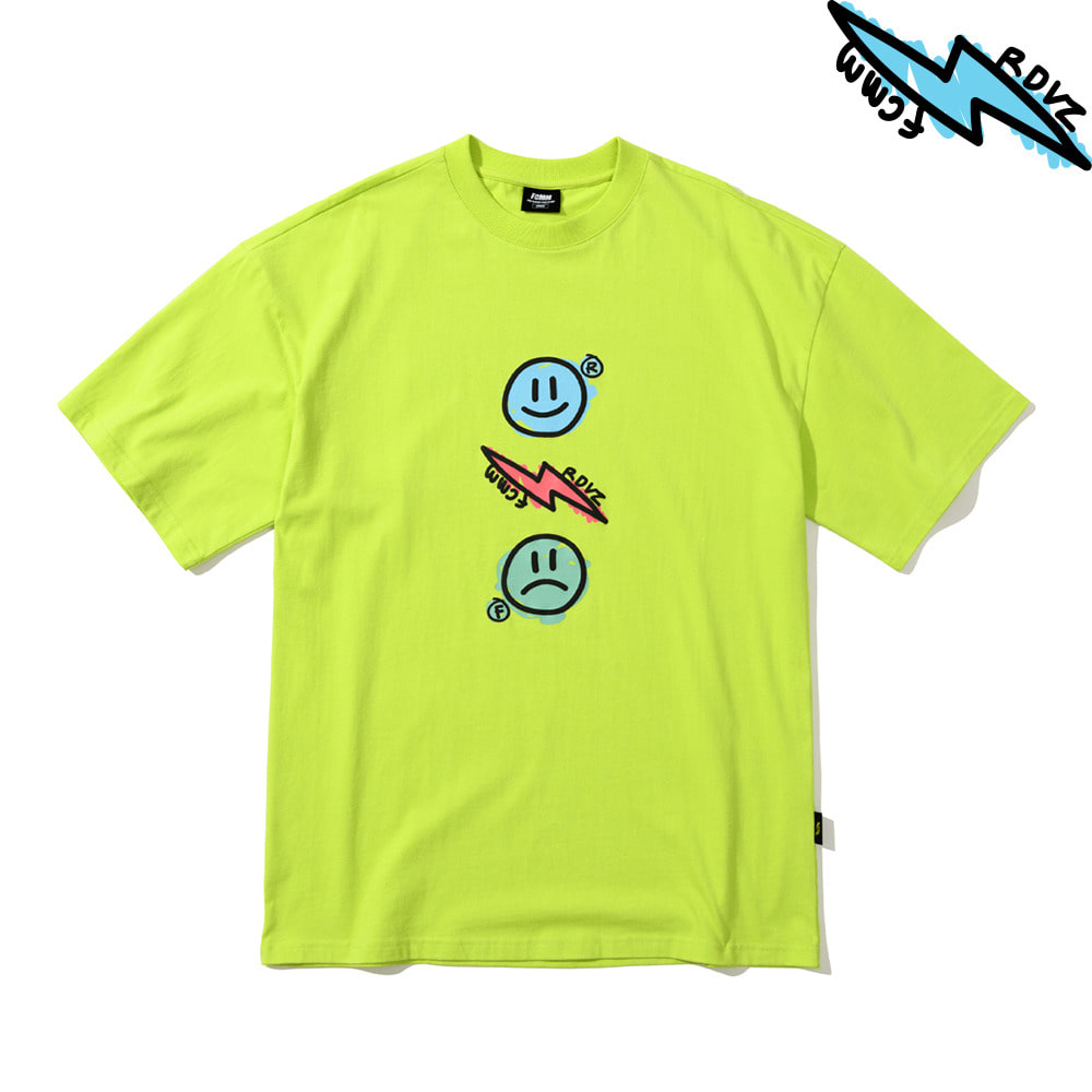 랑데부 THUNDER T-SHIRT LIME