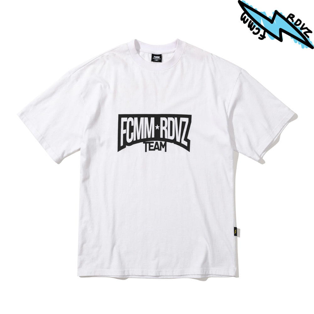 랑데부 RACING TEAM T-SHIRT WHITE