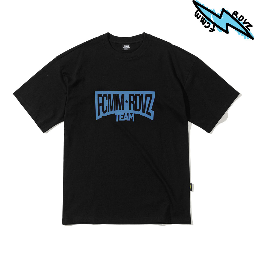 랑데부 RACING TEAM T-SHIRT BLACK