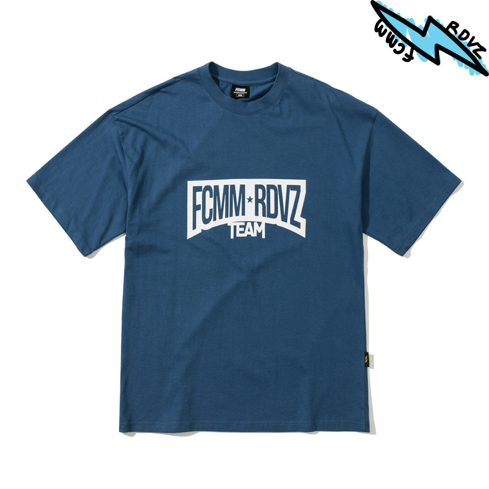 랑데부 RACING TEAM T-SHIRT BLUEGREY