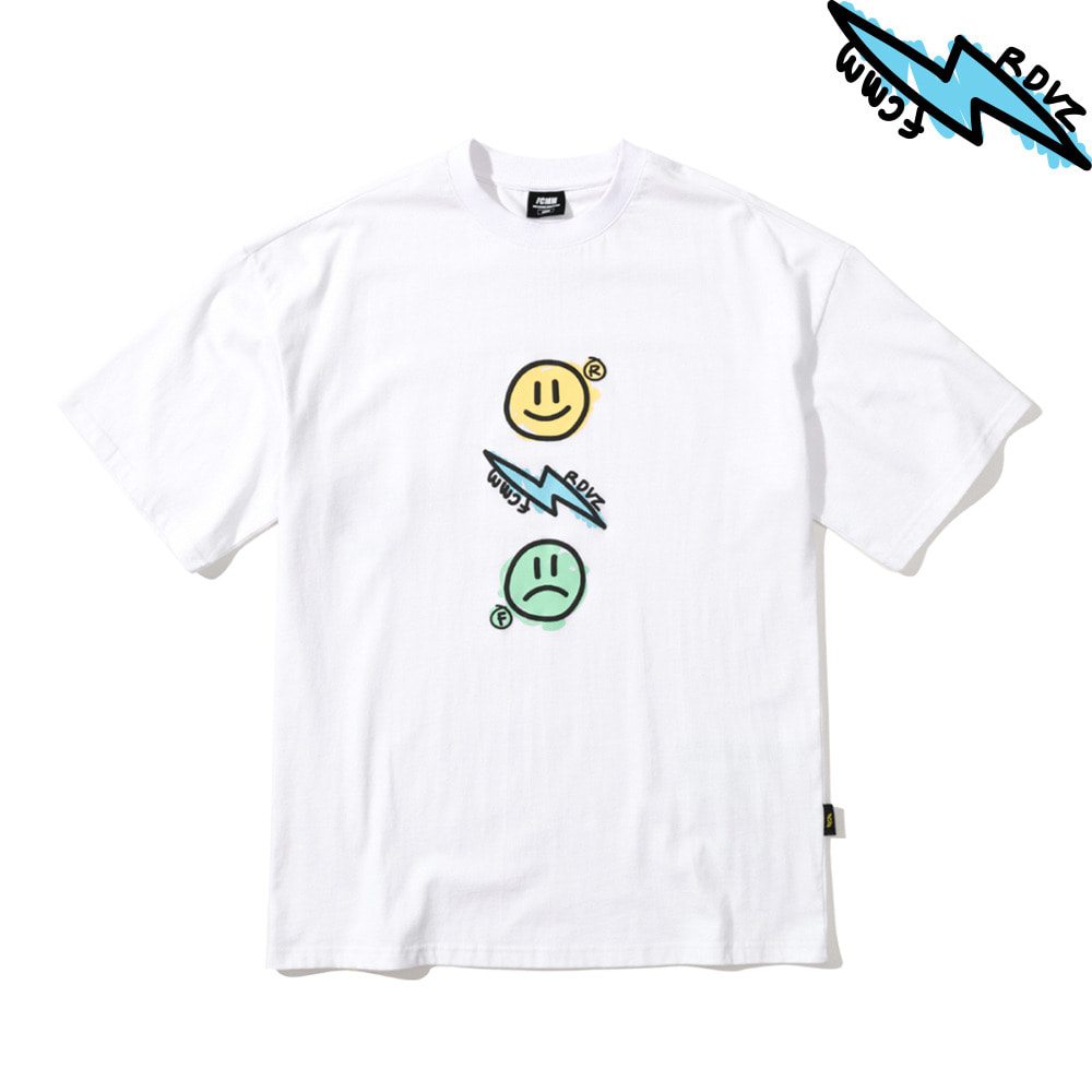 랑데부 THUNDER T-SHIRT WHITE
