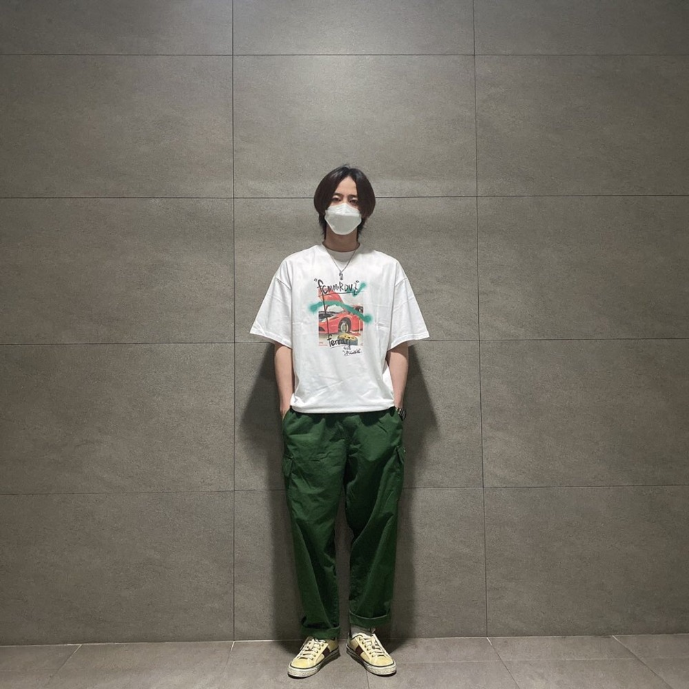 "랑데부 ""유키스 준"".RDVZ®  20SS SUPERCAR PHOTO T-SHIRT WHITE"
