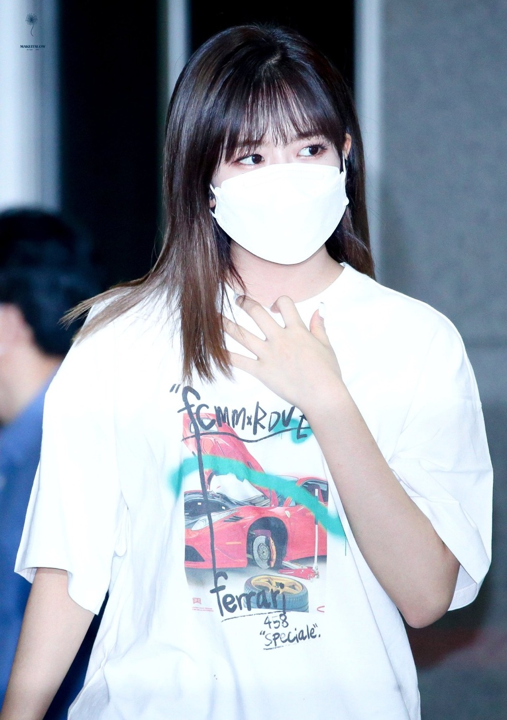 "랑데부 ""아이즈원 유진"".RDVZ®  20SS SUPERCAR PHOTO T-SHIRT WHITE"
