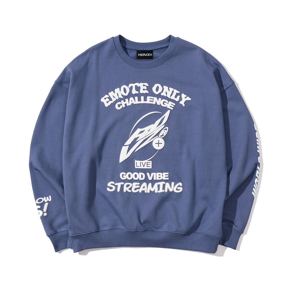 랑데부 SIGNATURE FOAMING SWEAT TOP BLUEGREY