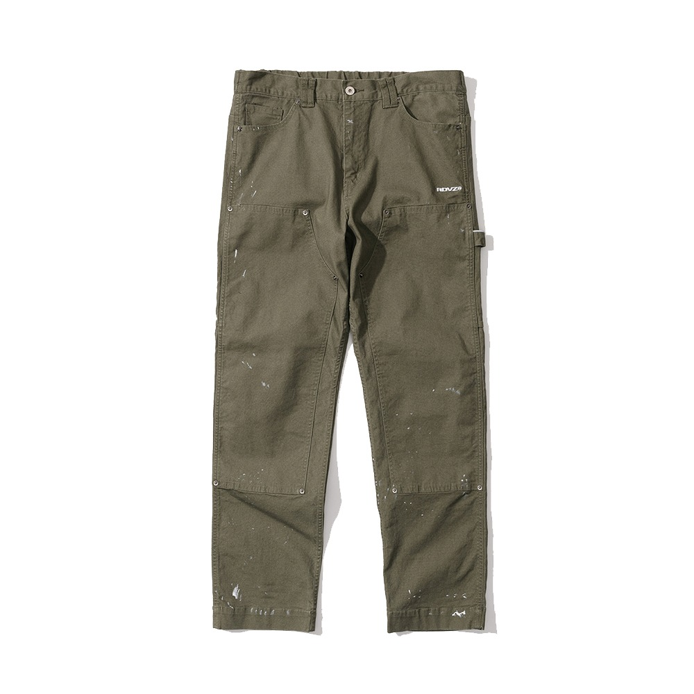 랑데부 DISTRESSED DETAIL PANEL PANTS KHAKI