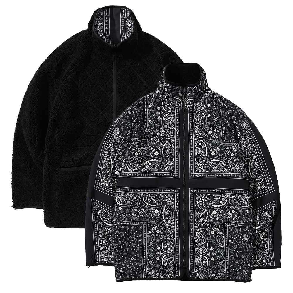 랑데부 PAISELY REVERSIBLE FLEECE JACKET