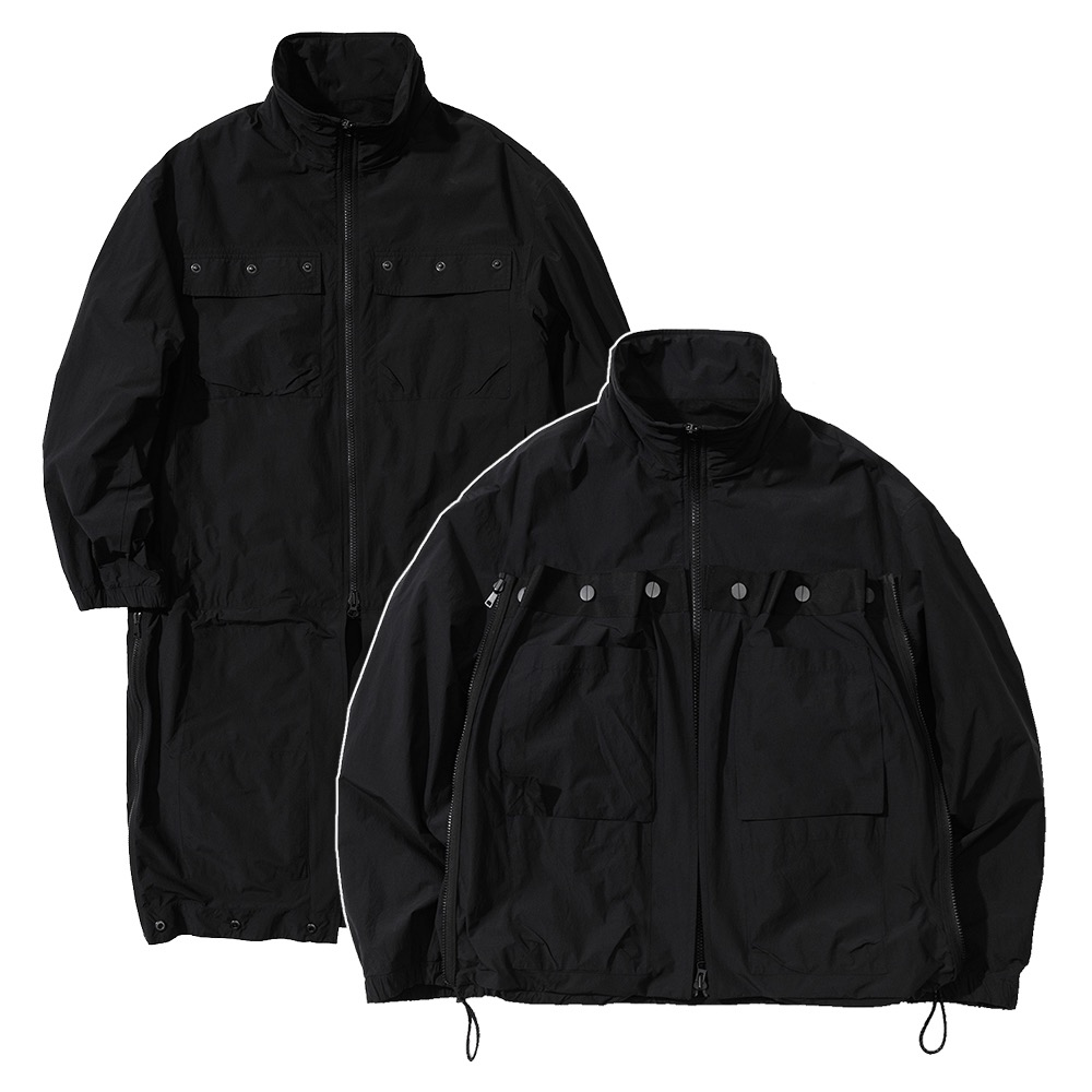 랑데부 TECHNICAL TRANSFORM WIND JACKET BLACK
